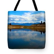 Crow Lake Montana Tote Bag