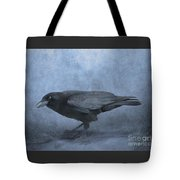 Crow Searching For Seashells Tote Bag