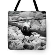 Crow Takes Off Tote Bag