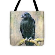 Crow Vigilant Tote Bag