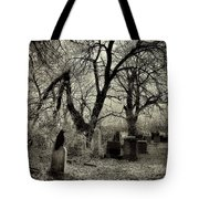 Crow Waits On Tombstone Tote Bag