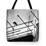Crow Watches Over Tote Bag