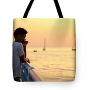Crowded Canal Tote Bag