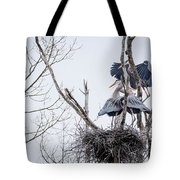Crowded Nest Tote Bag