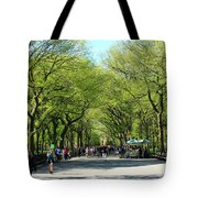 Crowded Spring Morning Tote Bag