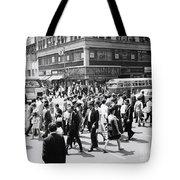 Crowded Street, Nyc, C.1960s Tote Bag