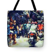 Crowded Street Tote Bag