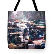 Crowded Streets Tote Bag