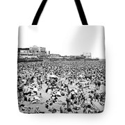 Crowds At Coney Island Beach Tote Bag