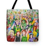 Crowds Tote Bag
