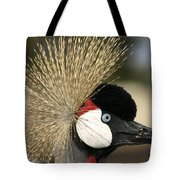 Crown Crane Close Up Tote Bag