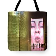 Crown Fountain At Millennium Park Tote Bag