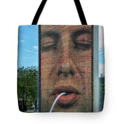 Crown Fountain Tote Bag