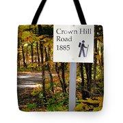 Crown Hill Road 1885 Tote Bag