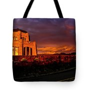 Crown Point At Sunset Tote Bag