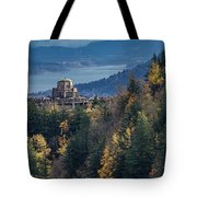 Crown Point In The Fall Tote Bag