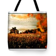 Crows And Corn Tote Bag