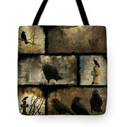 Crows And One Rabbit Tote Bag