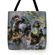 Crows In A Row Tote Bag