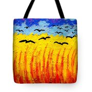 Crows Over Vincent's Field Tote Bag