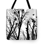 Crows Roost 1 - Black And White Tote Bag