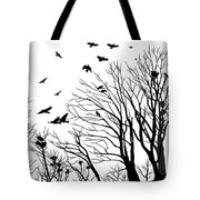 Crows Roost 2 - Black And White Tote Bag