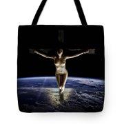 Crucified Tellus Tote Bag