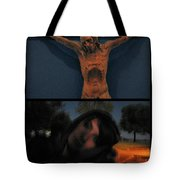 Crucifixion Tote Bag by James W Johnson