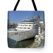 Cruise Ship At Canada Place Tote Bag