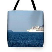 Cruise Ship Departing 2 Tote Bag
