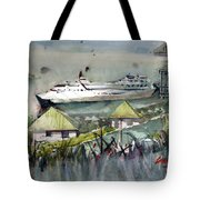 Sitting In The Dock Of The Bay, Kingstown, St Vincent  Tote Bag