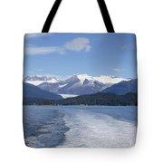 Cruise Ship Mountains Tote Bag