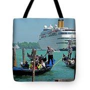 Cruise Ship Port Of Venice Tote Bag