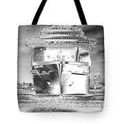 Cruise Ships In Chrome Tote Bag