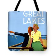 Cruise The Great Lakes Vintage Travel Poster Tote Bag