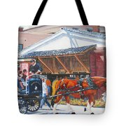 Cruisin By The Market Tote Bag