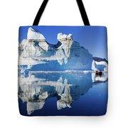 Cruising Between The Icebergs, Greenland Tote Bag