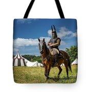Saddled Up For Battle, Denmark Tote Bag