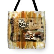 Crusin N Dining On Rt 66 Tote Bag