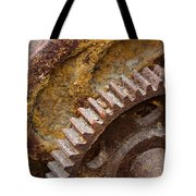 Crusty Rusty Gears Tote Bag