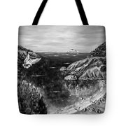 Crying Seagull Black And White Tote Bag