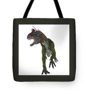 Cryolophosaurus Dinosaur Aggression Tote Bag
