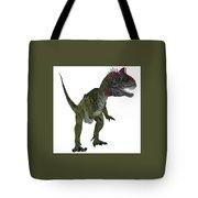 Cryolophosaurus On White Tote Bag