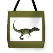 Cryolophosaurus Side Profile Tote Bag