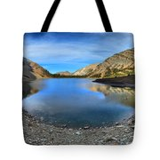Crypt Lake Gold And Blue Tote Bag