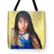 Crystal Blue China Girl            From   The Attitude Girls  Tote Bag