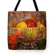 Crystal Bowl Of Fruit Tote Bag