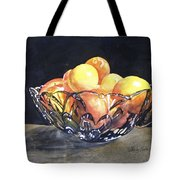 Crystal Bowl With Fruit Tote Bag