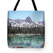 Crystal Crag From Twin Lakes Mammoth Ca Tote Bag