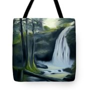 Crystal Falls In The Black Forest Dreamy Mirage Tote Bag